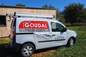 création Marquage Publicitaire véhicule pour l'entreprise GOUDAL par l'Agence de communication Graphic Artitude en Dordogne