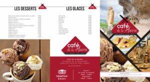 Carte d'un restaurant avec refonte du logo et de l'identité visuelle